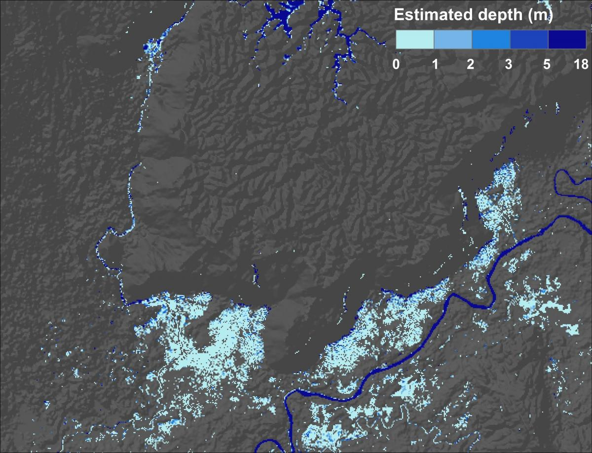 NASA flood depth