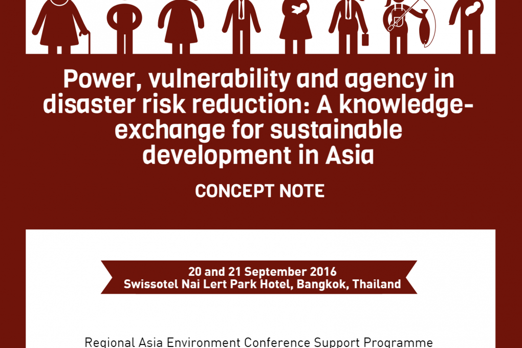 Power, vulnerability and agency in disaster risk reduction